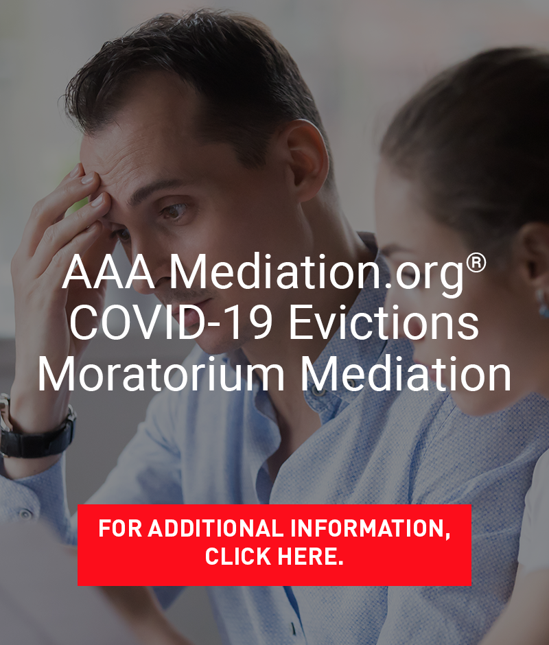 AAA Mediation.org COVID-19 Evictions Moratorium Mediation